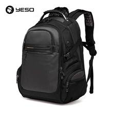 YESO Brand Men's Laptop Backpacks Business Casual Backpack 2017 New Fashion Travel Bag High Quality Black Backpacks School Bags