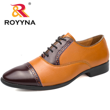 ROYYNA New Classics Style Men Formal Shoes Square Toe Men Shoes Hand Made Men Dress Shoes Comfortable Flats Fast Free Shipping(China)