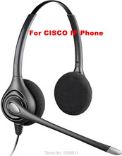 Extra 2 ear pads+Binaural RJ9 plug Headset for Cisco IP Telephone office headset CISCO phone headset wtih QD (Quick Disconnect)
