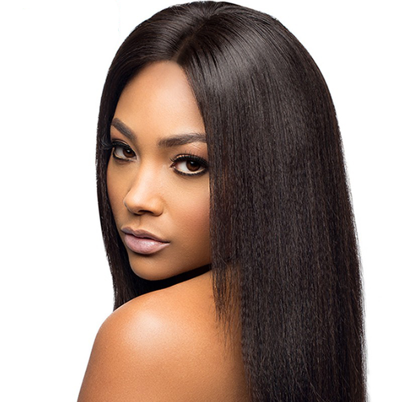 Malaysian Full Lace Human Hair Wigs Light Yaki Human Hair Lace Front Wigs Black Women Yaki Straight Human Hair Lace Front Wigs<br><br>Aliexpress