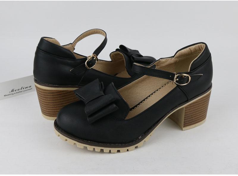 HTB1kiwyRFXXXXXVXpXXq6xXFXXXR - Meotina Women Pumps Lolita Shoes Platform High Heels Pink Shoes Bow Mary Jane Ladies Sweet Party Shoes Size 33-43 Zapatos Mujer