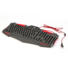 Hot New Promotion ArrivalTri-Color Wired Illuminated Backlit Ergonomic Gaming Keyboard For PC Laptop Newest