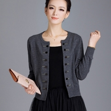 In Spring 2015 New Special Suits Cashmere Knit Cardigan Coat Color Loose Women Short Sweater(China)