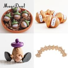 MagiDeal 10pcs/Lot Novelty Waldorf Acorns DIY Unfinished Wood Craft Wedding Decoration Kids DIY Hand Painting Crafts
