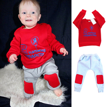 2017 Christmas Baby Boy Clothes Winter Warm Children Girls Children's Clothing Child Boys Clothing Set Kids Clothes Boys Sets(China)