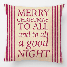 Night Before Christmas Grain Sack Inspired Throw Pillow Case Decorative Cushion Cover Pillowcase Customize Gift For Sofa Seat(China)