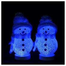 LED Mini USB Interface Powered Color Changing Decorative Snowman Night Light for Valentine's Day, Birthday, Merry Christmas Ho(China)