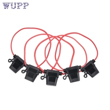 pretty 5 PCS MINI FUSE HOLDER IN-LINE WIRE COPPER 12 VOLT 30A POWER BLADE Car Bike jy12