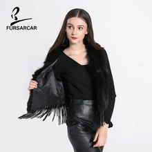 FARSARCAR Tassel Raccoon Fur Vest Fashion Fur Vest Real Fur Coat Genuine Leather Natural Raccoon Female Women Clothing Real Fur
