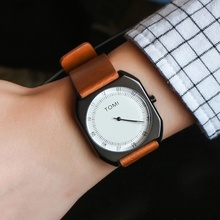 Unisex Super slim Casual Wristwatch Business JAPAN Movement Brand Leather Analog Quartz Watch Men's Fashion 2016 relojes hombre