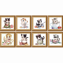 2016 New Arrival! 3d Diamond Painting Animals Icon Embroidery Mosaic Handmade Set Of Cartoon For Home Decoration Cat DW190