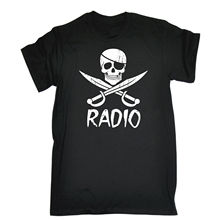 Pirate Radio T-shirt Illegal Station Music Party Funny Birthday Gift Present T Shirt Summer Style Funny Game Shirt
