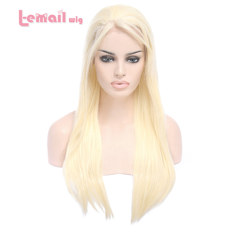 L-email Heat Resistant 70cm Synthetic Beige Peruca Long Straight Women Sexy Lace Front Wigs LC36<br><br>Aliexpress