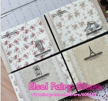 360pcs Lace Florals Paper Envelope Mini Gift Kraft Paper Bag 4 Differnent designs Party Favor Bag Party Message Card Paper Bag