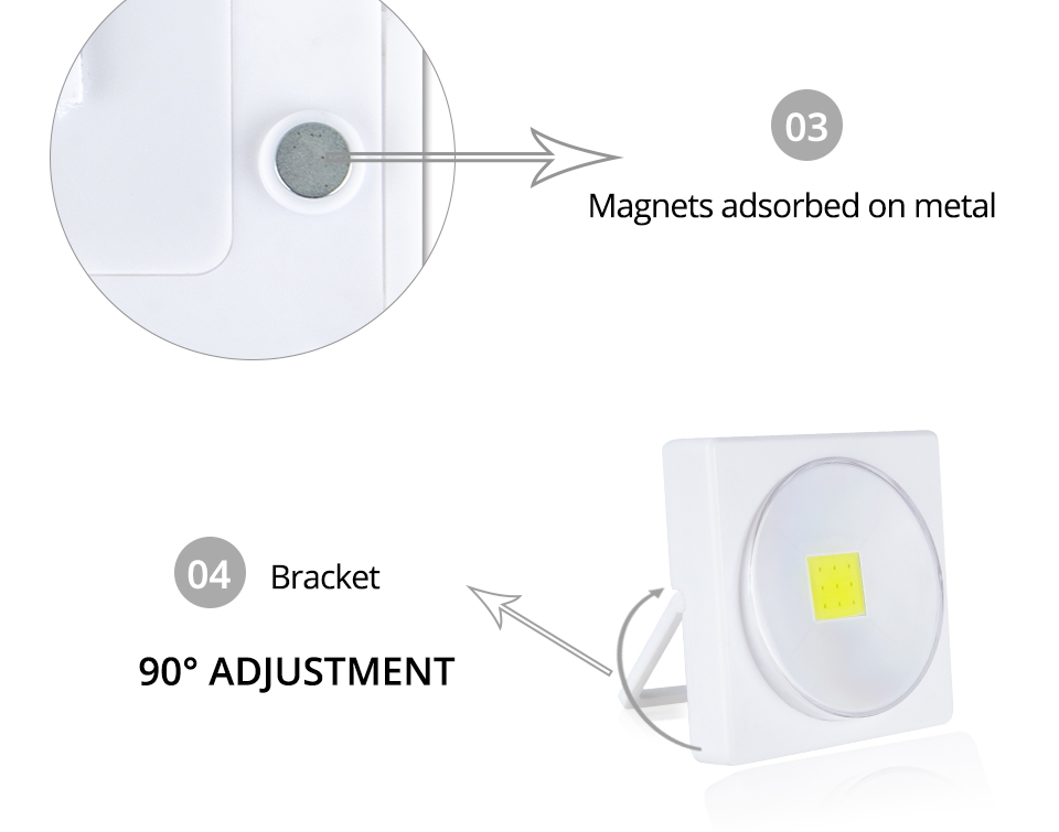 LED Desk Light Battery Powered Magnets COB With Switch Reading Book Lights _ (13)