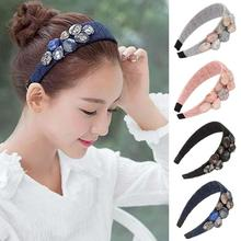 Women Crystal Beads Lace Hairband New Stylish Hair Accessories Hot Fashion Hairbands For Woman Girl Headwear C2
