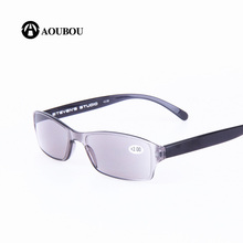 AOUBOU Brand Latest Design Ultra-light Men Women Sun Reading Glasses Quality PC Multi-functional Gray Presbyopic Glasses AB009(China)