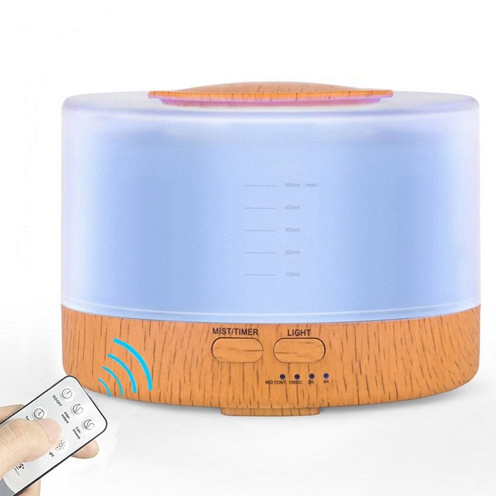 500ml Essential Oil Diffuser Air Humidifier Remote Control 7 Coloful Ultrasonic Mist Maker Fogger Ultrasonic Aroma Diffuser<br>