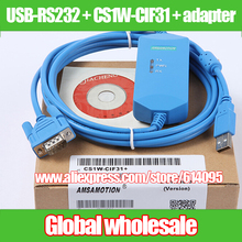 1pcs USB-RS232 + CS1W-CIF31 + adapter connector / adapter cable with isolated USB TO RS232 CONVERTER Electronic Data Systems(China)