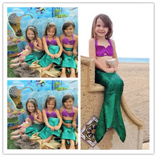 halloween girl mermaid tail costume princess ariel the little mermaid costume for girl costume kids dress swimming suit  cosplay