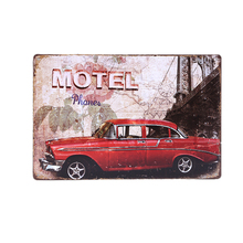 Motel Retro Plaque Metal Tin Signs Home Decorative Vintage Iron Painting For Bar Garage Wall Poster Sticker 20x30cm(China)