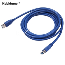 Wholesale USB 3.0 Extension Cable USB 3.0 Male A to USB3.0 Female A AM TO AF Extension Data Sync Cord Cable Adapter Connector(China)