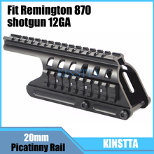 KINSTTA Tactical 20mm Double Picatinny Rail Mount System Fit For Remington 870 RM870 Shotgun 12 Ga. Scope(China)