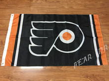 NHL 3ftx5ft Philadelphia Flyers flag Banner 100D Polyester Flag metal Grommets(China)