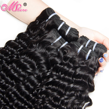 Peruvian Deep Curly Human Hair Weave Bundles 100g 1piece Natural Color Non Remy Hair 100% Human Hair Weft MSHere Hair Products(China)