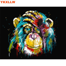 Owl Cat Lion Gorilla Diy oil painting by numbers abstract acrylic paint Animal Canvas decor painting coloring by number drawing