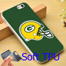 Fashion Green Bay Packers NFL Styl Soft TPU Phone Case for iPhone 7 6 6S Plus 4 4S 5C 5 SE 5S Cover