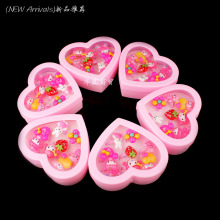 Wholesale 60pcs(6 Boxes) Mix Lot Animals Flower Assorted Baby Kids Girl Children's Cartoon Rings Heart Display Box Free Shipping