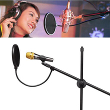 Flexible Gooseneck Shied Pop Filter Double Layer Studio Microphone Mic Wind Screen Mask Microphone Accessories