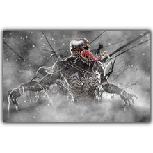Venom Carnage Spider Man DC Comics Superhero Poster Image For Home Decoration Silk Canvas Fabric Print Poster Wallpape DY1040(China)