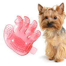 Hand Shape Pet Dog Cat Grooming Bath Massage Rakes Brush Comb Cleaner Massager AA