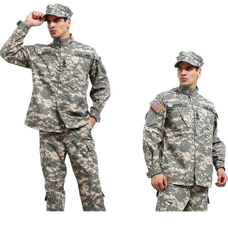 Military Army Shirt + Pants Multicam ACU Tactical Uniforms US Army Desert Combat Airsoft Suits Sets<br>