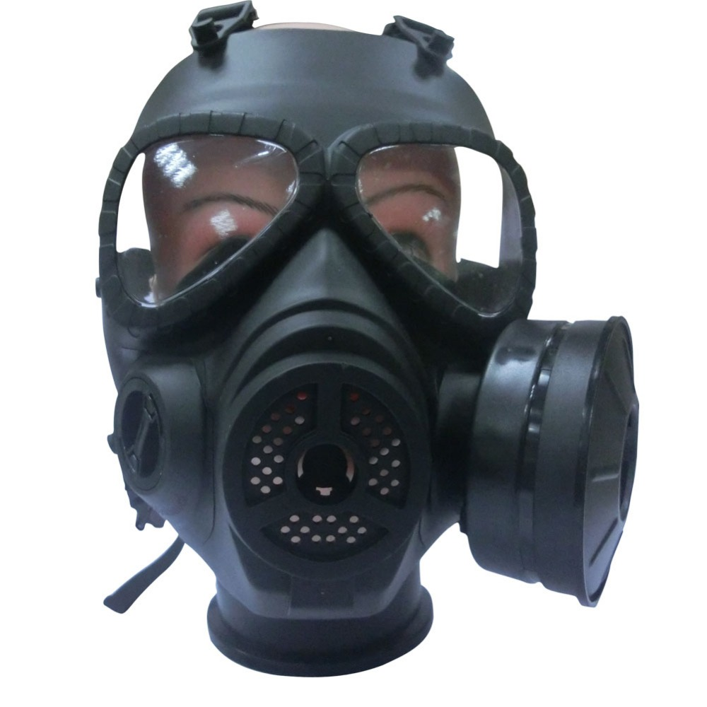 Gas Mask Chemical Anti-Dust Paint Respirator Mask Glasses Gameplayer Black  FC<br><br>Aliexpress