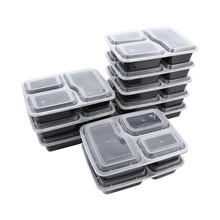 10pcs Microwavable Gift Box Meal Prep Box with Lid Compartment Meal Prep Containers Durable Food Storage Container