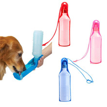 500ML Plastic Foldable Pet Dog Cat Travel Water Drinking Feeder Bottle Bowl