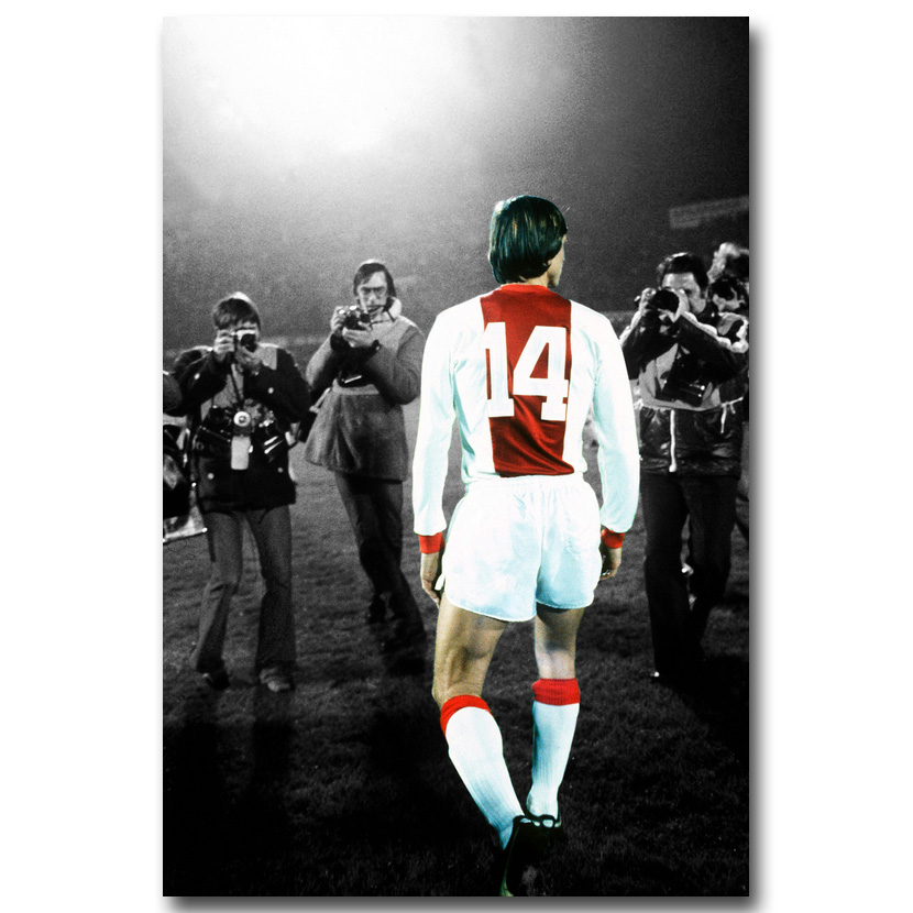 NICOLESHENTINGH Johan Cruyff Football Legend Art Silk Poster Print 13x20 24x36 Netherlands Soccer Star Pictures Room Decor 006(China)