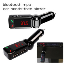 Car Kit Bluetooth FM Transmitter Wareless MP3 Player Modulator Handsfree LCD with Dual USB Charger for iPhone Samsung Smartphone