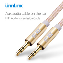 Unnlink Aux cable 3.5mm Audio Cable 3.5 mm Jack Male Male Aux Cable Car iPhone X Headphone Stereo Speaker cable Aux Cord