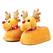 Deer Children Slippers Girls Boys Home Shoes Winter Indoor Warm Plush Cotton Cartoon Christmas Kids Adult Home Slippers