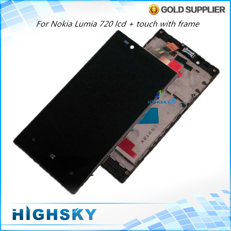 Tested Screen For Nokia Lumia 720 LCD N720 Display With Touch Screen Digitizer With Frame Full Assembly 1 Piece Free Shipping<br><br>Aliexpress