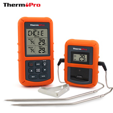ThermoPro TP-20 Remote Wireless Digital BBQ, Oven Thermometer Home Use Stainless Steel Probe Large Screen with Timer(China)