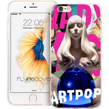 Coque Capa Sexy Lady Gaga Clear Soft TPU Silicone Phone Cover for iPhone X 7 8 Plus 5S 5 SE 6 6S Plus 4S 4 iPod Touch 6 5 Cases(China)