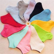 1 Pair of Women Socks Girl Female Lady Short Cotton Socks Candy Color Ankle Boat Low Cut Socks Calcetines Mujer
