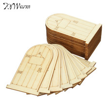 Fashion 25Pcs Wooden Fairy Door Bauble Wooden Craft Ornaments Embellishment For Scrapbooking Card Wall Tree Crafts DIY Material