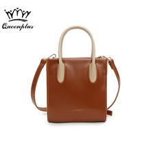 Original design new high quality women's bag fashion hit color handbag trendy shoulder Messenger bag mini square bag(China)