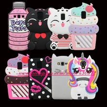 3D Silicon Cupcake Cat Sexy Lip Unicorn Cartoon Minnie Soft Case Cover for Samsung Galaxy S3 S4 S5 S6 S7 Edge S8 S8 PLUS Note 4